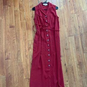 Double D Ranch Brick Red Maxi Dress